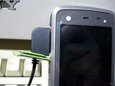 画像:イヤホン接続状態